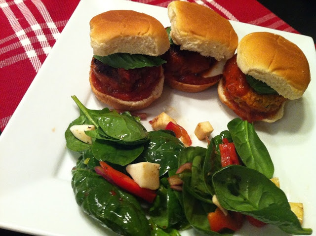 Keeping up with the Joneses: Italian Meatball Sliders - so good!
