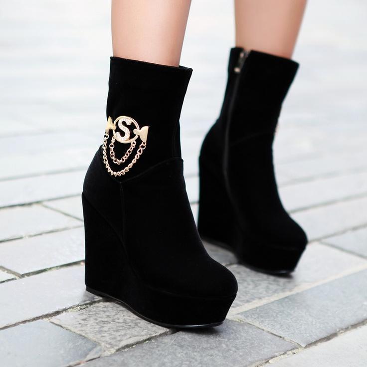 2012 comfortable cheap fashion boots for women Z-GXZ690-3 black