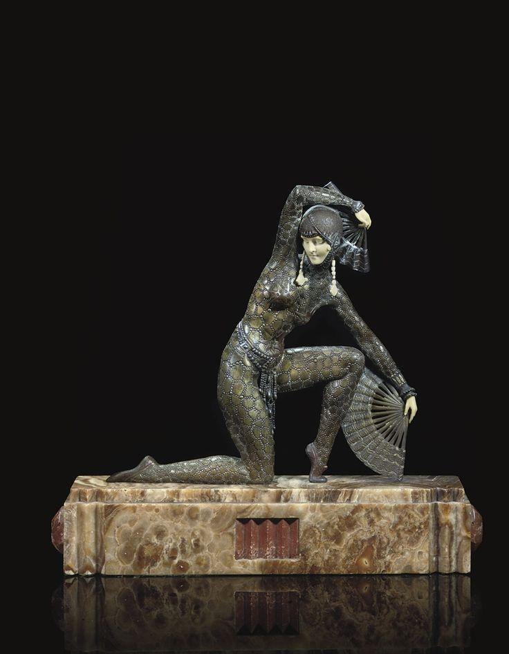 DEMETRE CHIPARUS - FAN DANCER, CIRCA 1925
