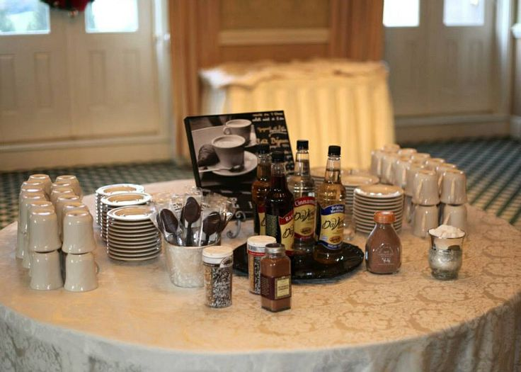 Coffee station at wedding