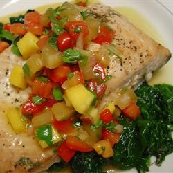 Salmon with Pineapple Tomato Salsa Allrecipes.com