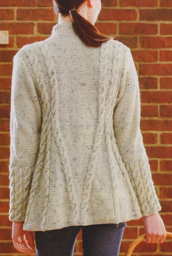 Knitting Patterns For Cable Jackets : Stunning Aran A Line Cable Swing Jacket 34