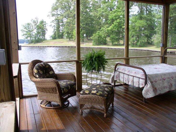 lakeside sleeping porch outdoor spaces pinterest