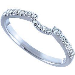 Ben Moss Jewellers 0.13 Carat TW, 14k White Gold Diamond Wedding Band