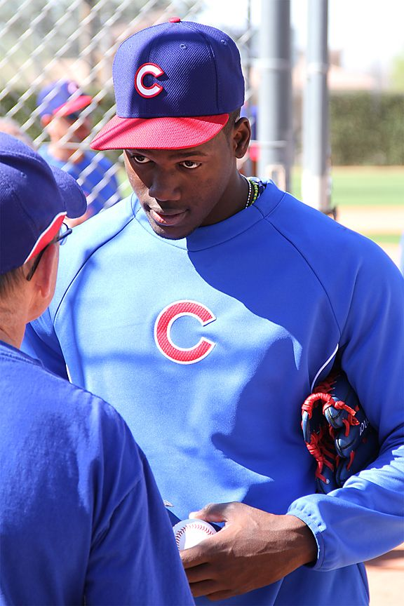 jorge soler signing autographs in mesa. that is one big kid.