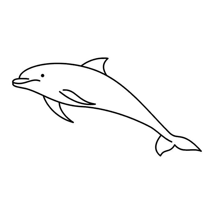 Dolphin outline tattoo - photo#5