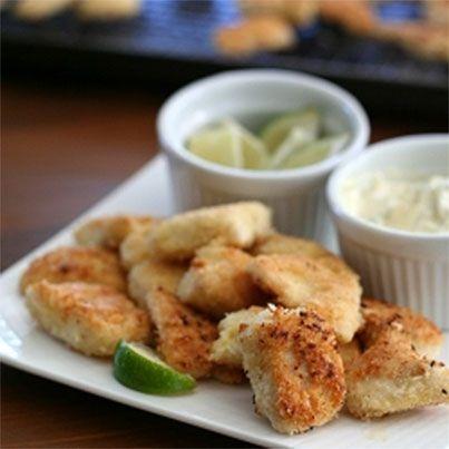 Coconut-Crusted Mahi Mahi Nuggets | gluten free meals | Pinterest