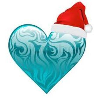 blue Christmas heart   Christmas hearts   Pinterest
