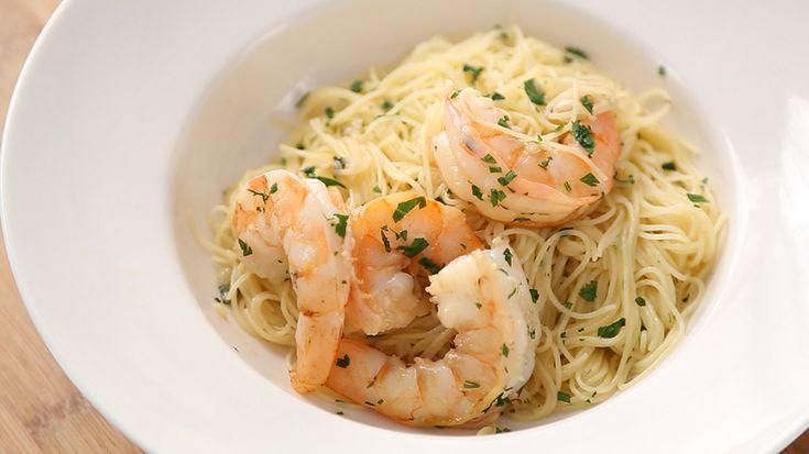 Lemony Shrimp Scampi, Recipe from Everyday Food, June 2012