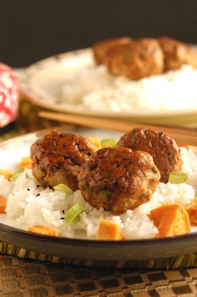 Simplified Tsukune - Japanese Yakitori meatballs
