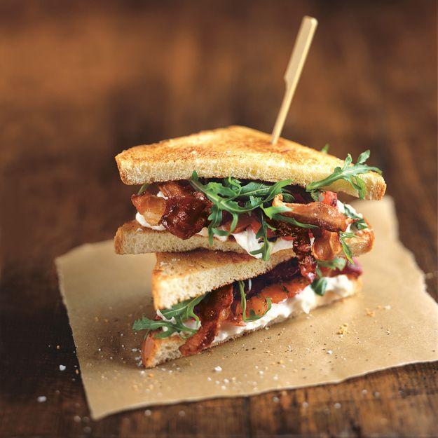 Crispy Pancetta, Burrata, and Tomato Sandwiches | Recipe