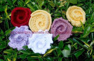 Red Rose Brooch - AllFreeCrochet.com - Free Crochet