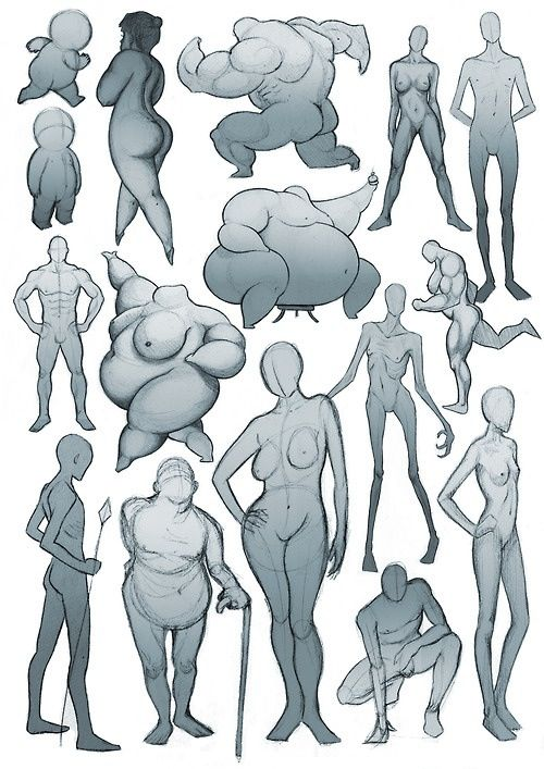 Cartoon female anatomy