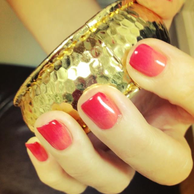 Ombré shellac nails | hair. make-up. nails. | Pinterest