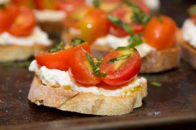 Herbed Ricotta And Tomato Crostini Recipes — Dishmaps
