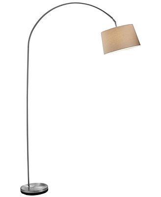 macy 39 adesso floor lamp satin steel goliath arc floor lamps. Black Bedroom Furniture Sets. Home Design Ideas