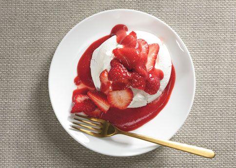 Orange-Flower Pavlovas with Strawberries Pavlova is Australian for ...