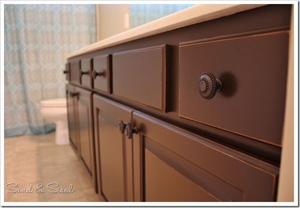 painted cabinets using Rust-oleum from Home Depot