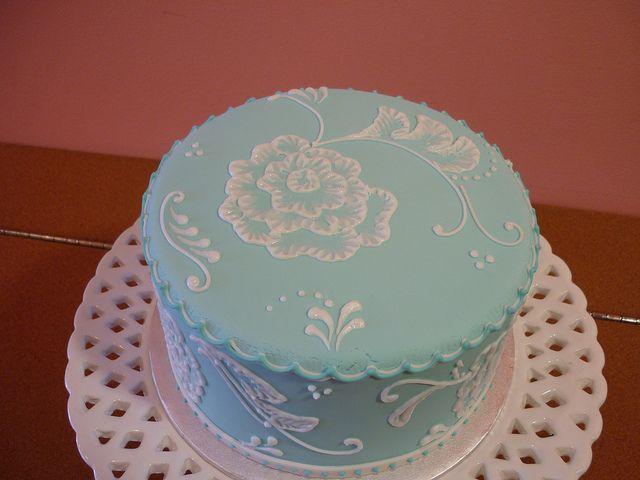 Brush Embroidery Cake By Saskia Nollen  Baking