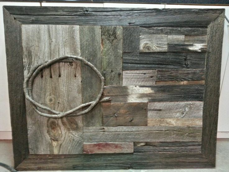 Cadre Deco En Bois De Grange 30 40 D Corations Pinterest