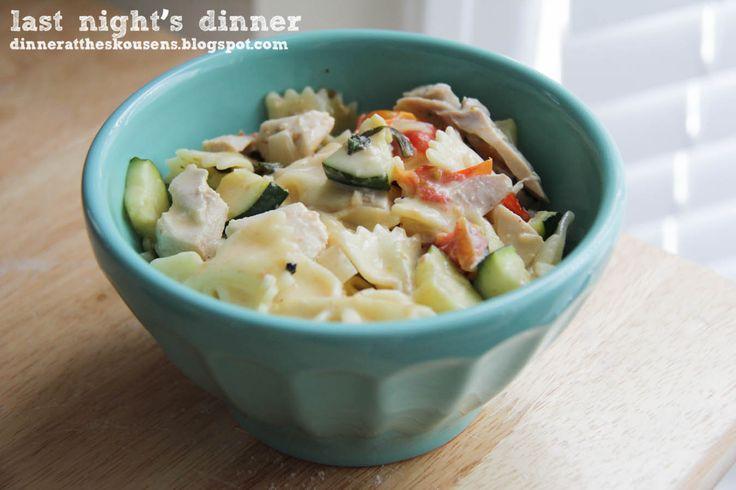 farfalle with zucchini // last night's dinner