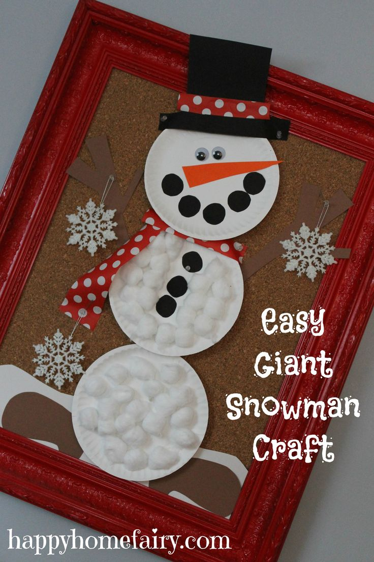 Easy Giant Snowman Craft | Kid Projects | Pinterest