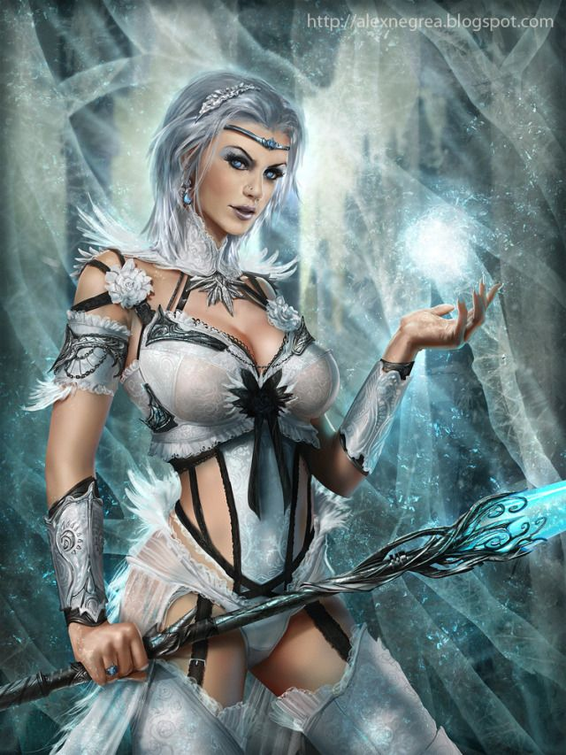 Cryptids picture 2d fantasy girl woman mage sorceress portrait