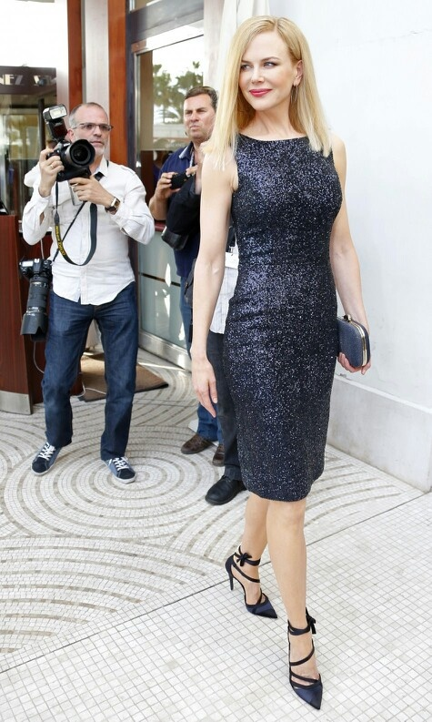 Nicole Kidman in black Christian Dior cocktail dress in Cannes 2013