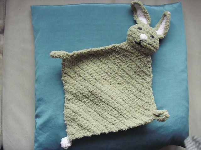 Bunny Blanket Buddy Knit Pattern : Pin by June Montgomery Blasingame on Crochet Pinterest