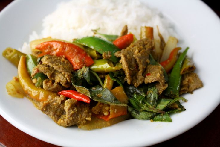 Cha Sach Koh Kroeung (stir-fried beef with lemongrass paste) This is ...