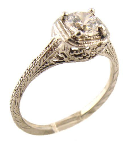 vintage style sterling silver filigree ring. my dream wedding ring!