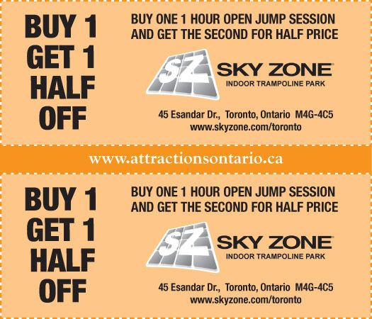 Sky Zone Trampoline Park Coupons