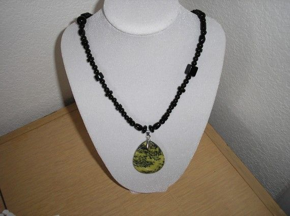 Genuine Yellow Picture Jasper/Genuine by CreationsbyMaryEllen, $11.75