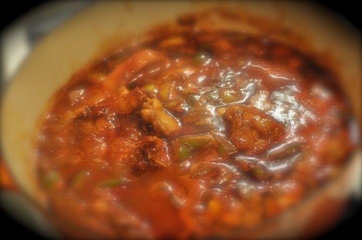 Food from Belize: Red Recado Chicken Stew