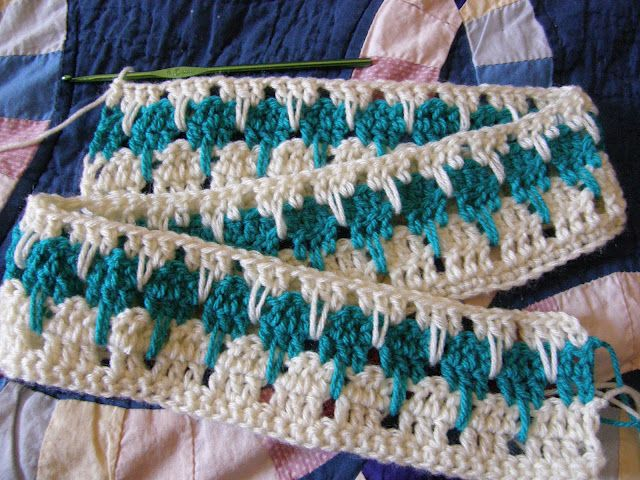 Crochet Stitches Larksfoot : Larksfoot Stitch How-to