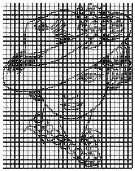 point de croix femme au chapeau et perles - cross stitch woman with hat and pearls