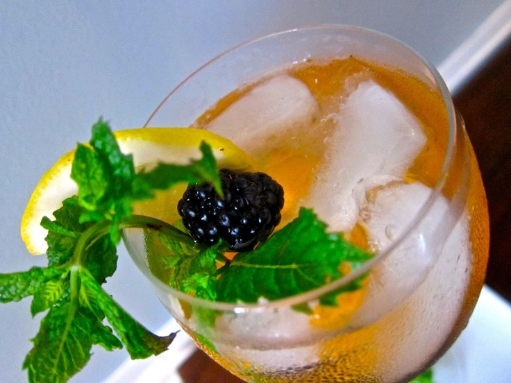 summer sangria with stone fruit, berries, and mint ~ #cocktails # ...