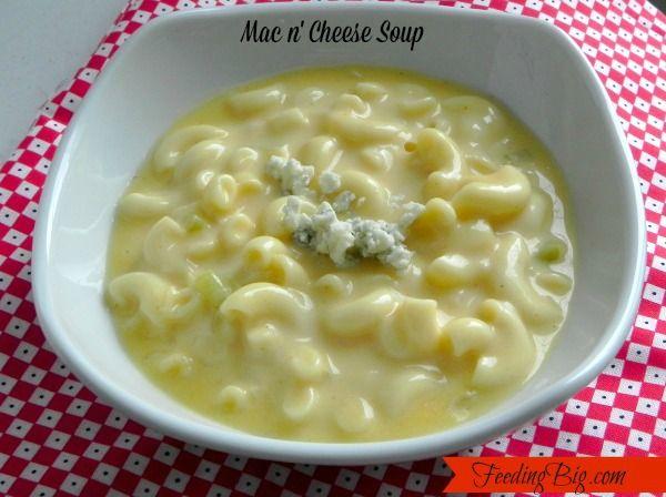 Mac n' Cheese Soup - Comfort Food In A Bowl - Feeding Big