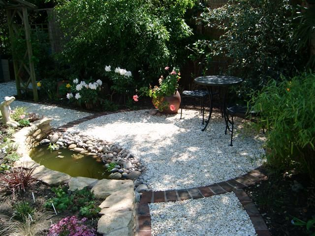 Seating area with wildlife pond diy design garden for Design wildlife pond