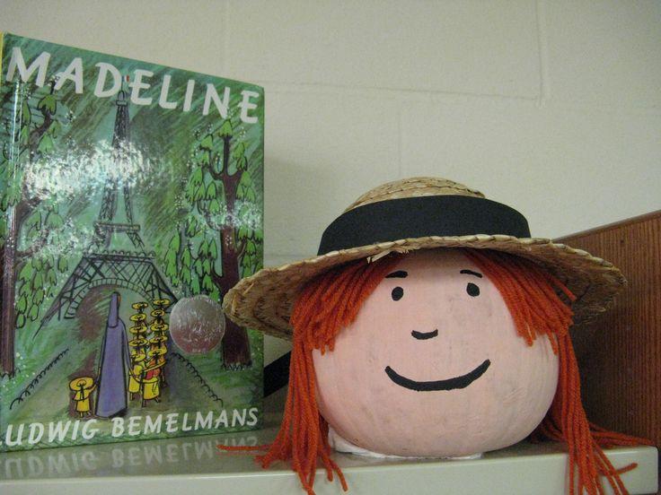 Madeline - Book Character Pumpkin  (Pumpkin Painting 2010)