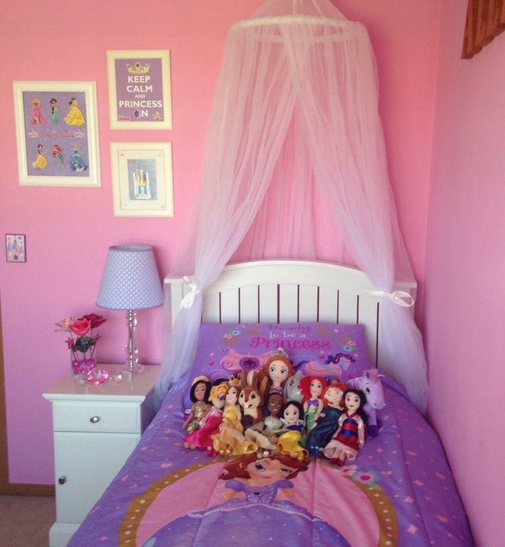 Sofia the First and Disney Princess Girl Bedroom   Kids Room ...