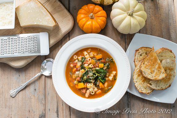 Ina Garten's Winter minestrone and garlic bruschetta