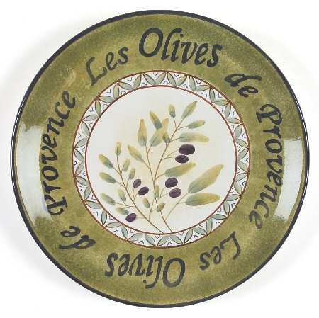Les Olives de Provence decorative plate I display on top of my fridge.