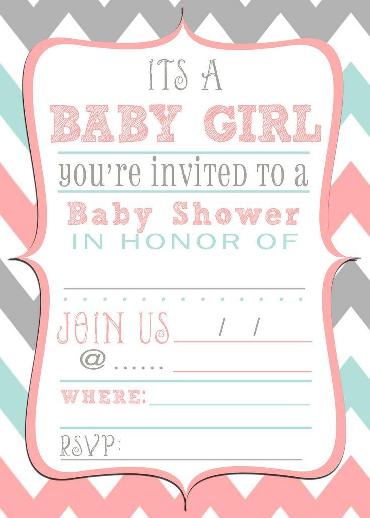 free baby shower printable invitation invitations pinterest