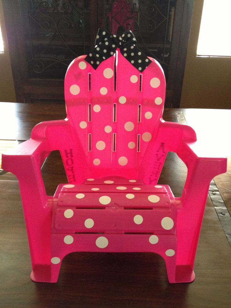 Minnie Mouse Chair Made Out Of A Plain Toddler Chair From