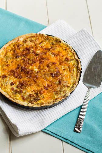Caramelized Onion and Bacon Quiche   Recipe