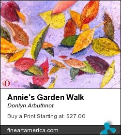 Annie s garden walk a beautiful fall day a watercolor painting by