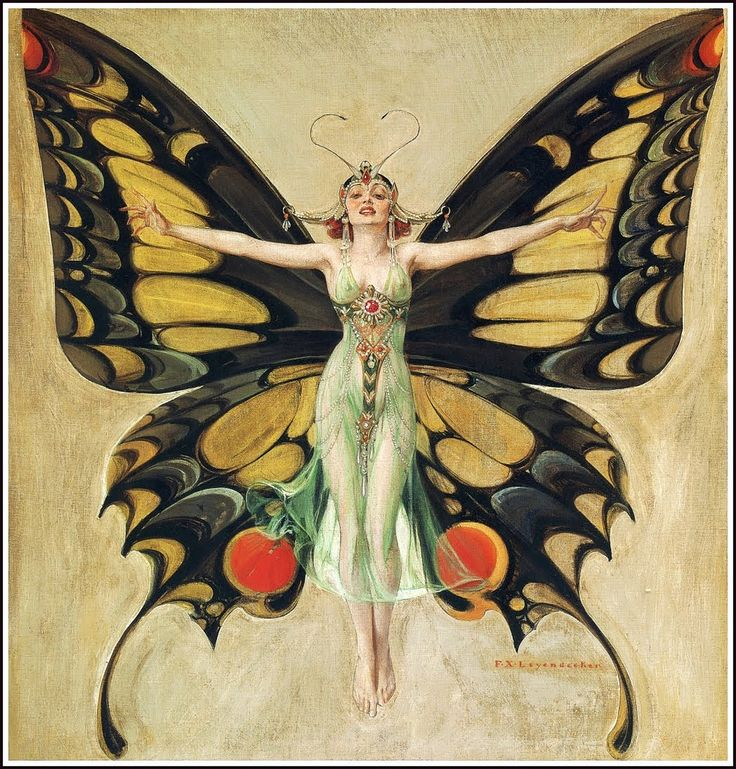 Life magazine 'The Flapper' cover by FX Leyendecker, 1922