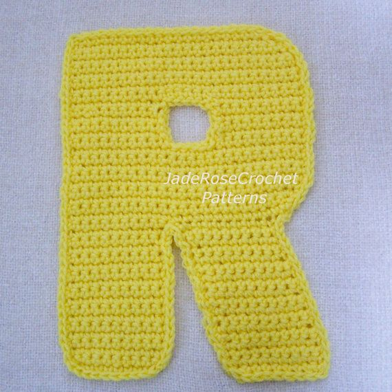 Crochet Stitches Letters : Crochet Letters Patterns R by JadeRoseCrochet ... Crocheted Alphab ...