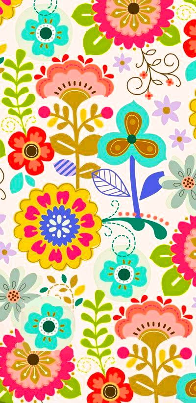 Bright floral pattern - photo#5